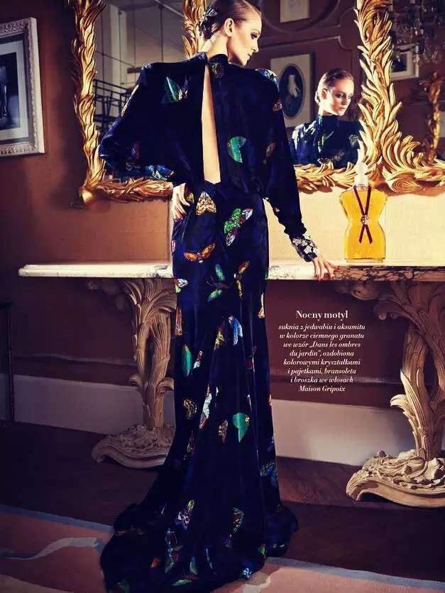 Multicolor Round Neck Backless Long Sleeve High Low Print Dress