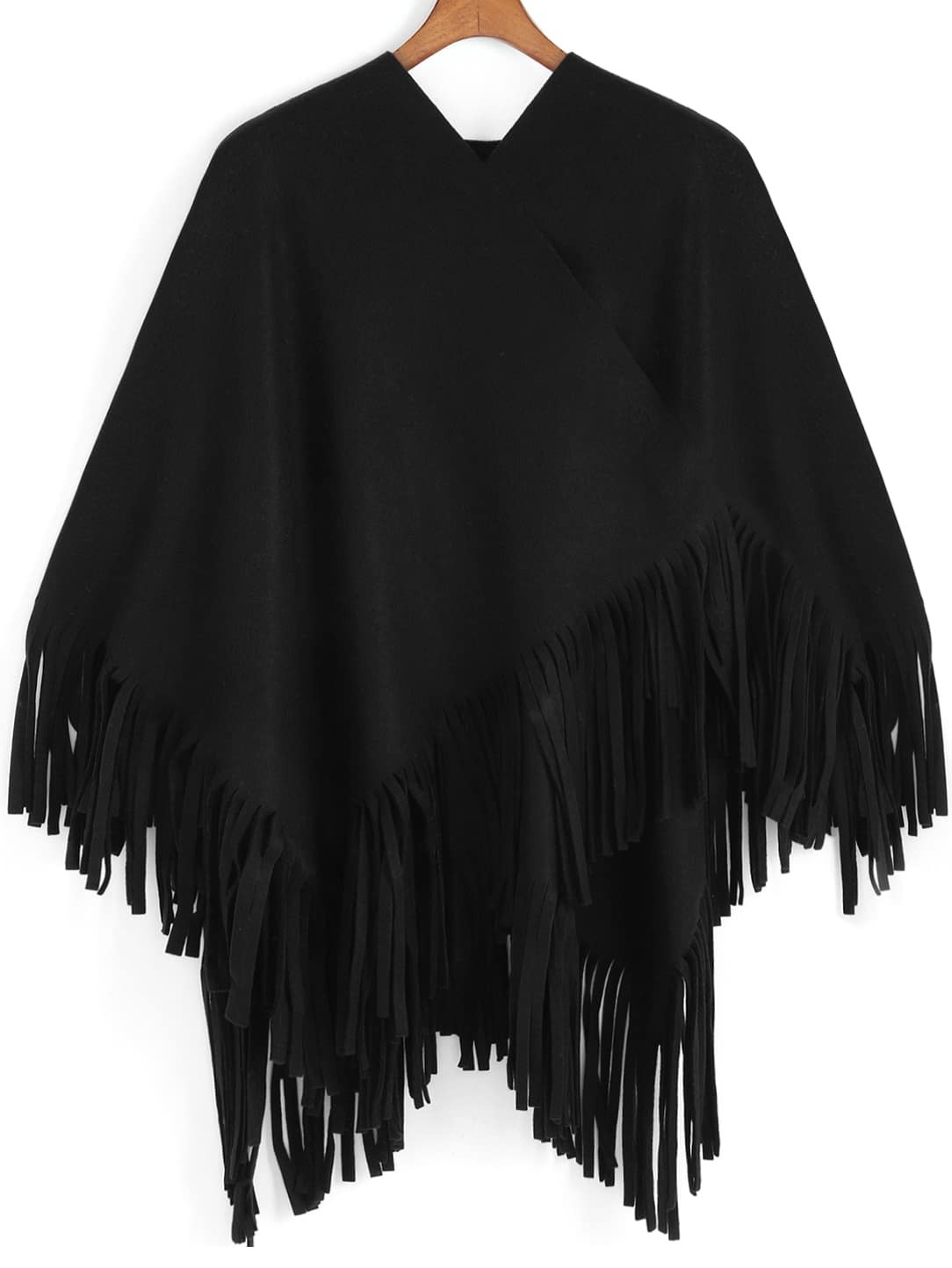 Black Tassel Loose Cape
