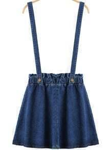 Blue Strap Denim Skirt