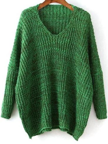Фото V Neckline Dolman Sweater. Купить с доставкой