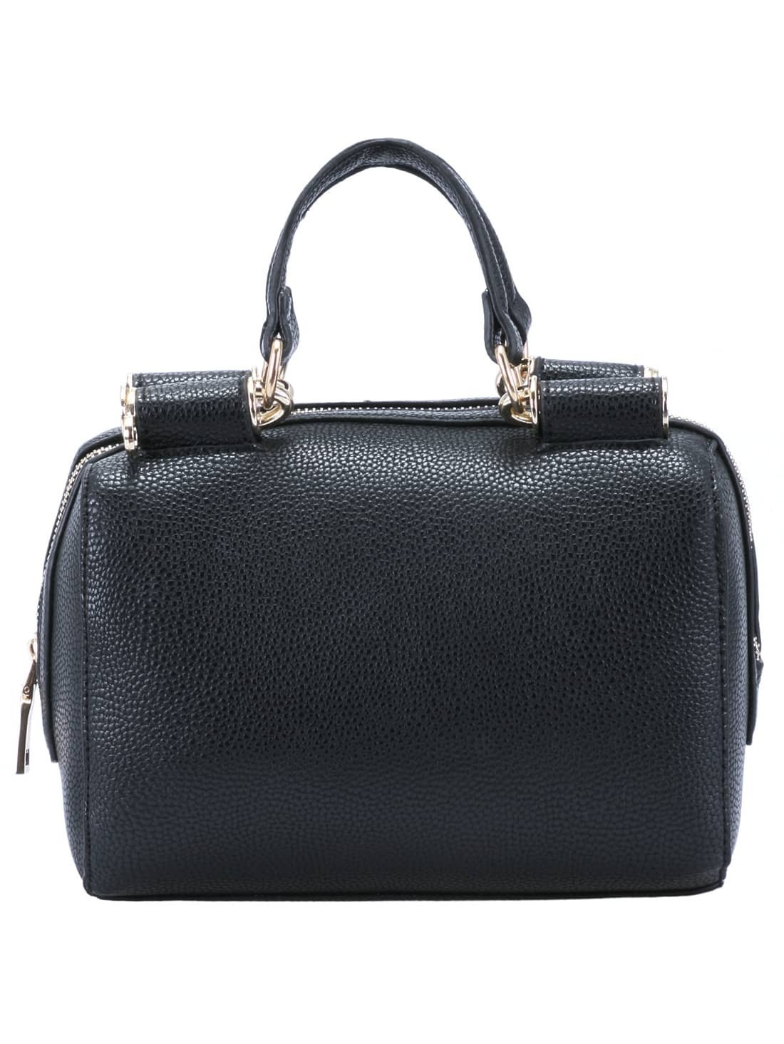 Black Zipper PU Chain Bag