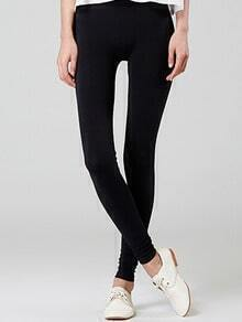 Elastic Waist Slim Black Leggings