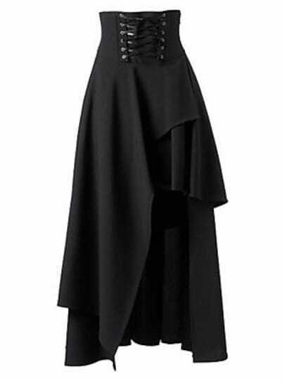 Black Bandage Asymmetrical Skirt