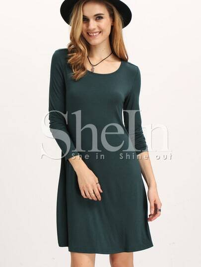 Basic Casual Tee Dress