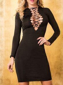 Long Sleeve Bandage Bodycon Dress