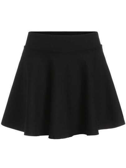 Black A Line Flare Skirt