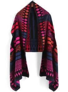 Multicolor Tribal Geometric Print Scarve