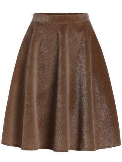 khaki high waist midi skirt shein sheinside
