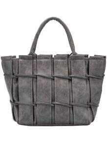Grey Weave Fences Tote Bag