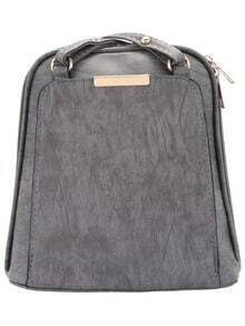 Grey Cross Strap Backpack