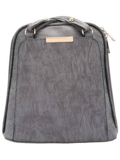 Grey Cross Strap Backpack pictures