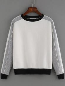 Color-block Round Neck Sweatshirt