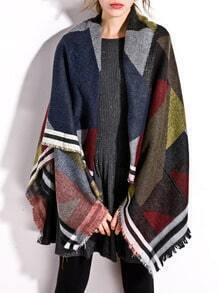 Patchwork Frayed Scarf