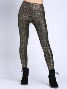 Gold Black Skinny Leggings