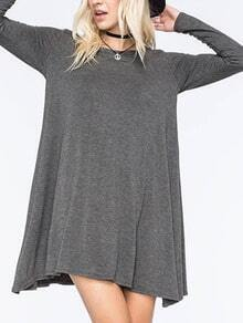 Long Sleeve Shift Grey Dress