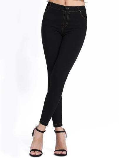 Black Skinny Elastic Denim Pant