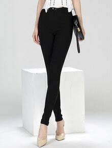 Black Slim High Waist Pant