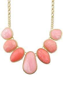 Hotpink Big Stone Statement Female Necklace