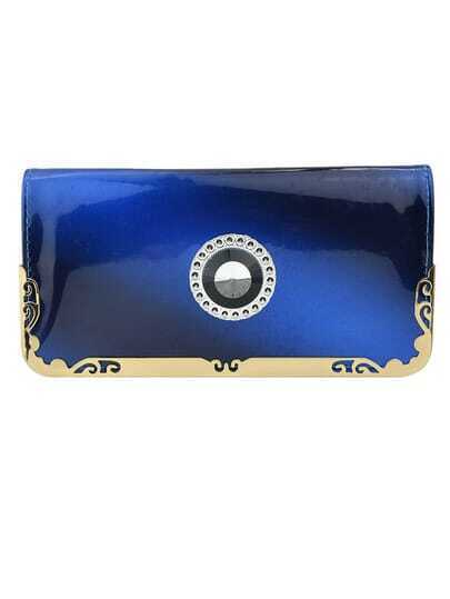 Blue PU Leather Party Women's Bag