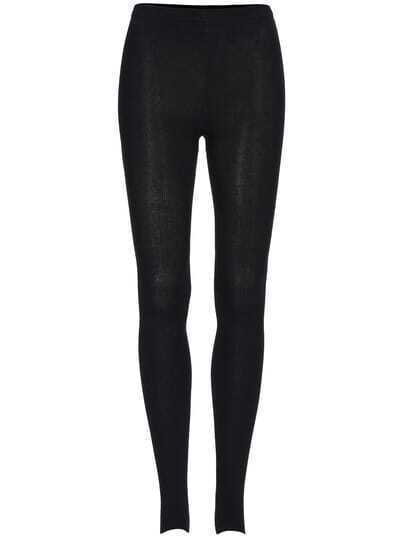 Black Skinny Stirrup Tights