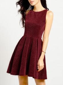Red Sleeveless A Line Dress