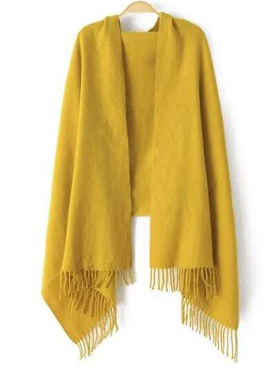 Yellow Classical Tassel Scarve