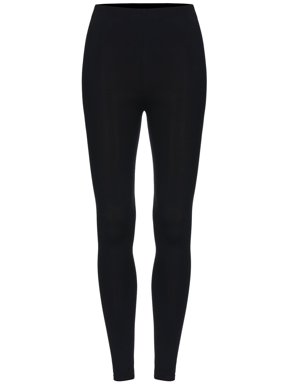 Black Elastic Skinny Leggings