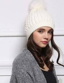 White Casual Twisted Ball Hat