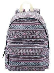 Multicolor Geometric Print Backpack