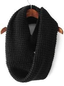 Black Casual Knit Scarve