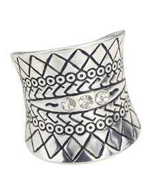 Aulic Style Antique Sliver Plated Big Fashion Rings