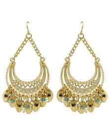 Gold Plated Rhinestone Wedding Chandelier Earrings Jewelry Fashion