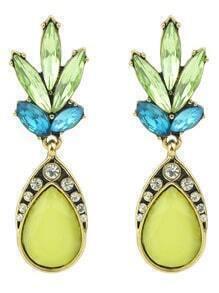 Colorful Rhinestne Hanging Drop Dangle Earrings