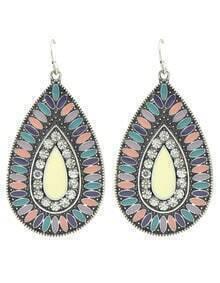 Colorful Enamel Large Drop Earrings Jewelry Fashion
