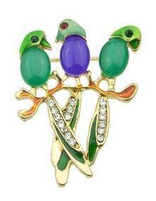 Multicolors Cute Parrot Small Brooch