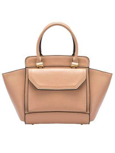 Khaki Fashion PU Shoulder Bag