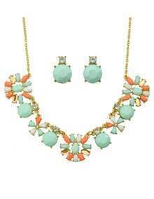 Colorful Stone Beautiful Wedding Jewelry Set