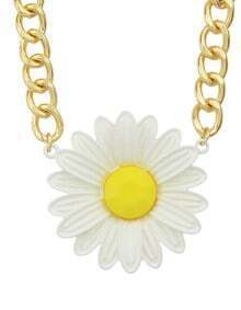 Fashionable Simple Style Daisy Pendant In Necklace