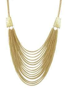 Beige Multi Chain Necklace for Women