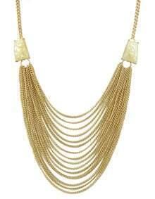 Beige Multi Chain Necklace for Women