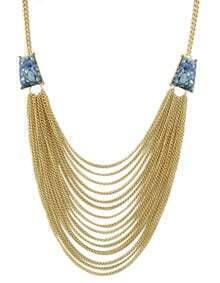 Blue Multi Chain Necklace for Women