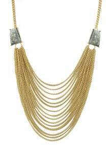 Gray Multi Chain Necklace for Women