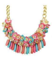 Colorful Hanging Stone Chunky Neckalce