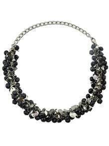 Vintage Style Black Color Small Beads Necklace for Women