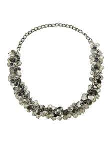 Vintage Style Grey Color Small Beads Necklace for Women