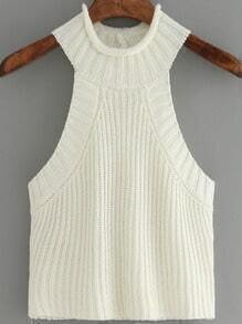 Apricot Knit Sweater Cami Top