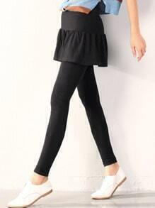 Black Ruffle Skirt Leggings
