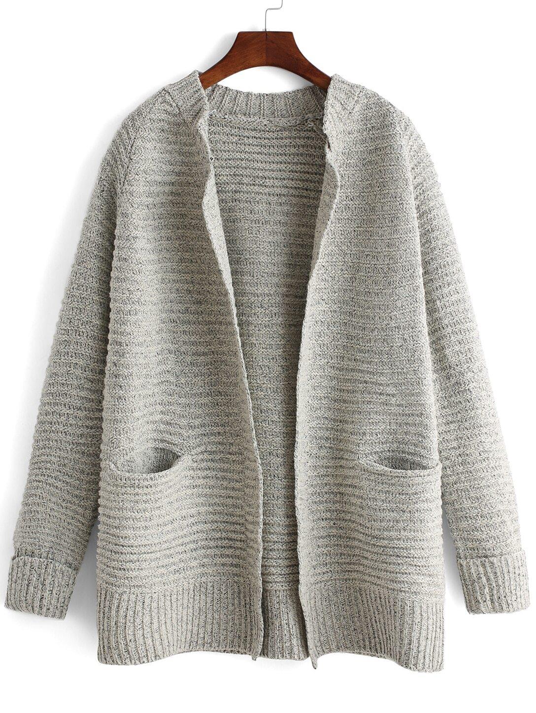 Grey Sweater Coat 44