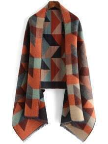 Colour Geometric Print Scarve