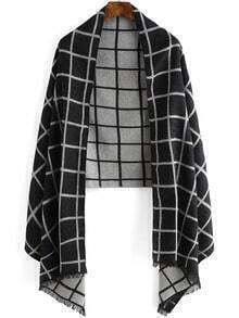 Black White Plaid Scarve